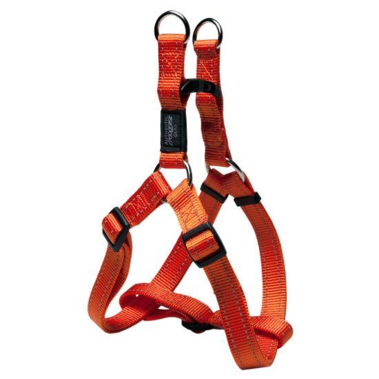 Rogz Nitelife Step-in Dog Harness, Orange, 3/8-in x 10-15-in