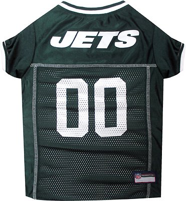 Pets First New York Jets Mesh Dog & Cat Jersey, Medium