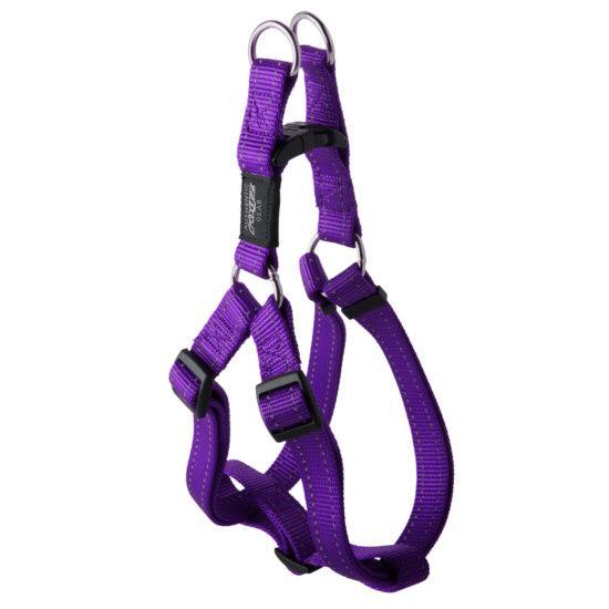 Rogz Nitelife Step-in Dog Harness, Purple, 3/8-in x 10-15-in