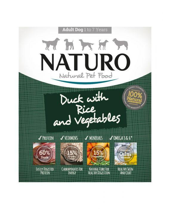 Naturo Duck with Rice & Vegetables Wet Dog Food, 400-gram