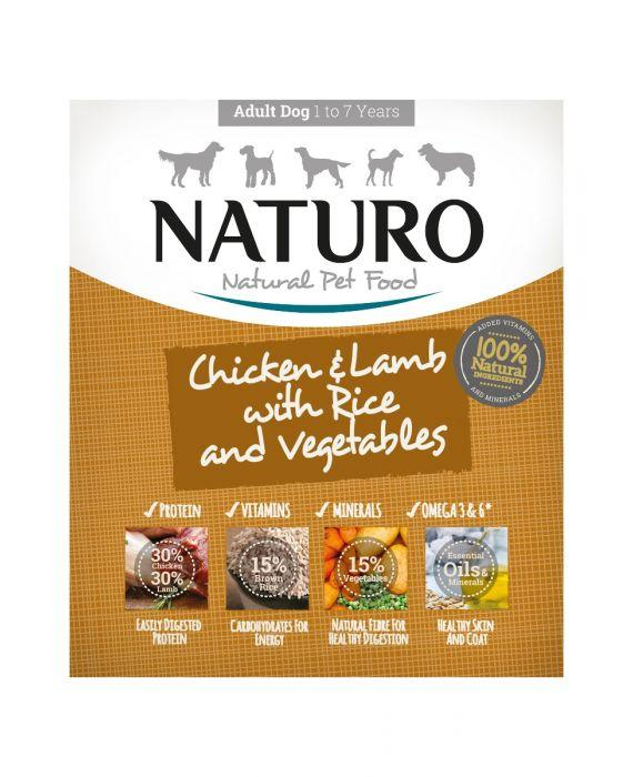 Naturo Chicken & Lamb with Rice & Vegetables Wet Dog Food, 400-gram