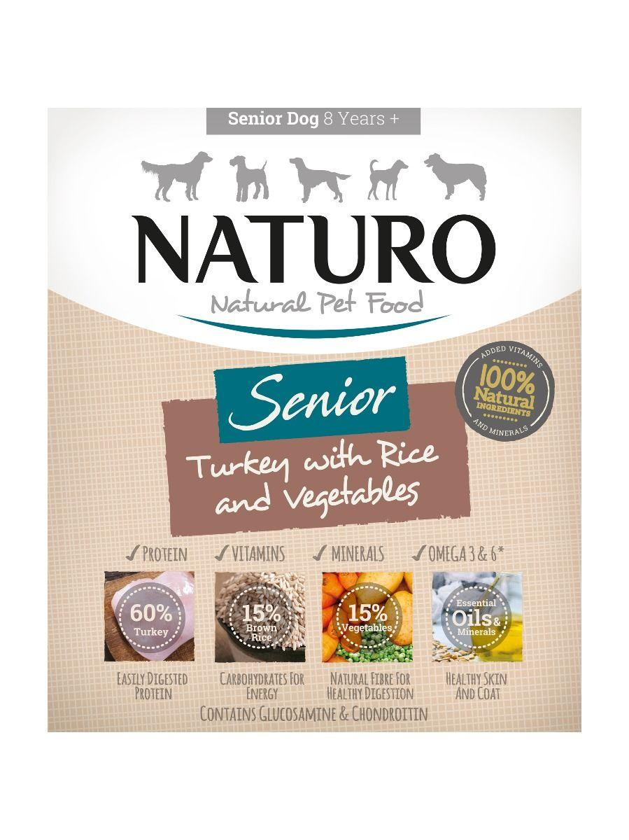 Naturo Turkey with Rice & Vegetables Senior Wet Dog Food, 400-gram