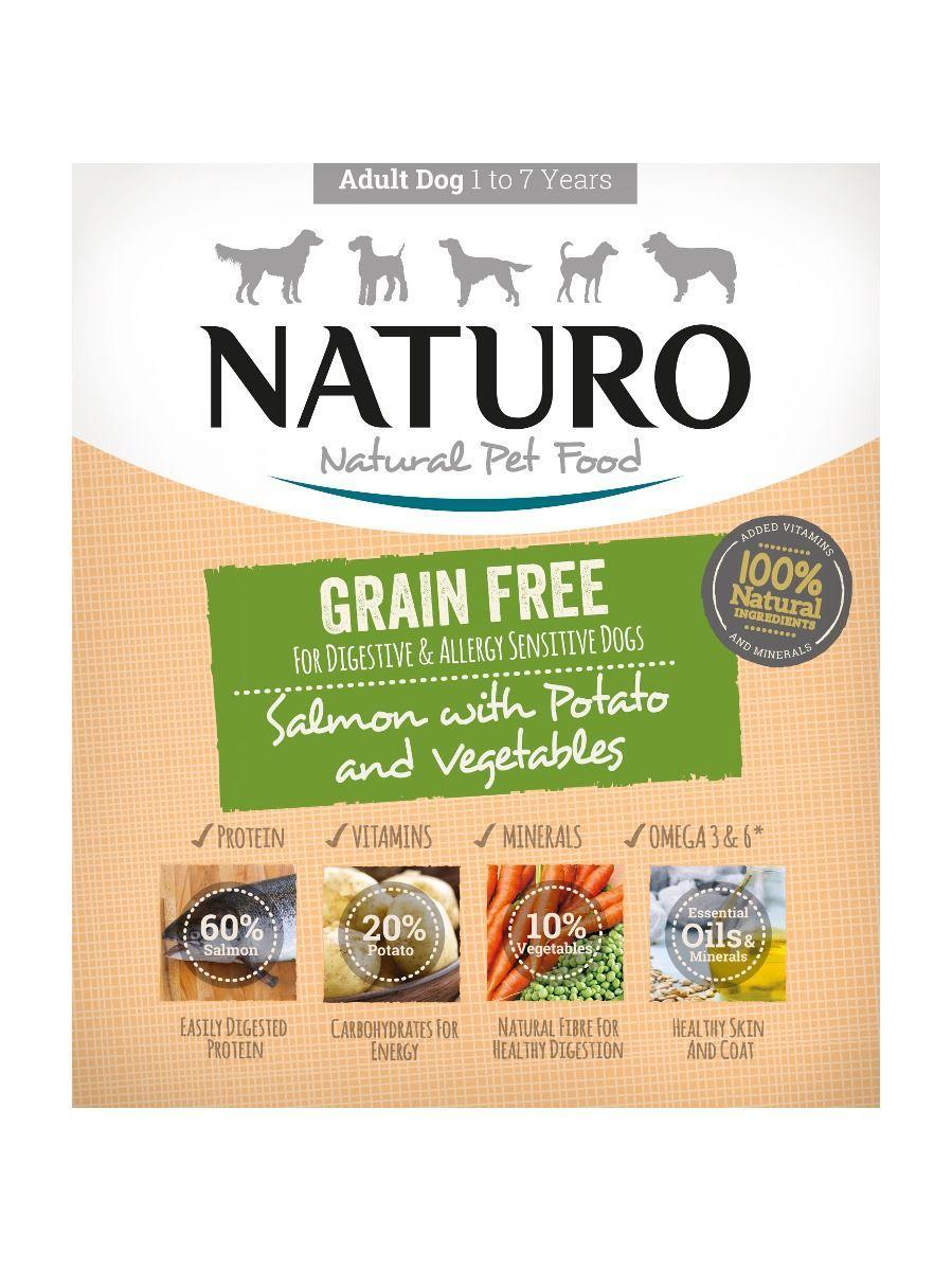 Naturo Salmon with Potato & Vegetables Grain-Free Wet Dog Food, 400-gram