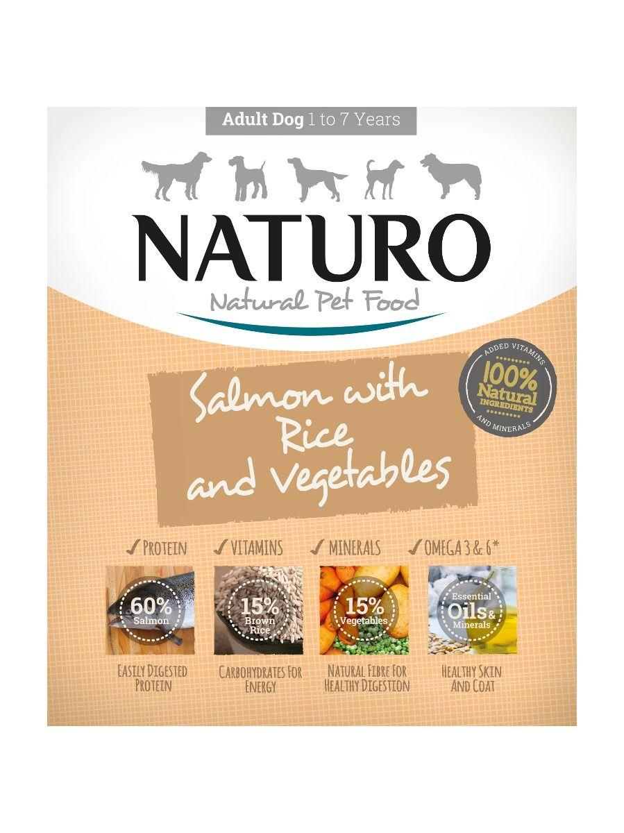 Naturo Salmon with Rice & Vegetables Wet Dog Food, 400-gram