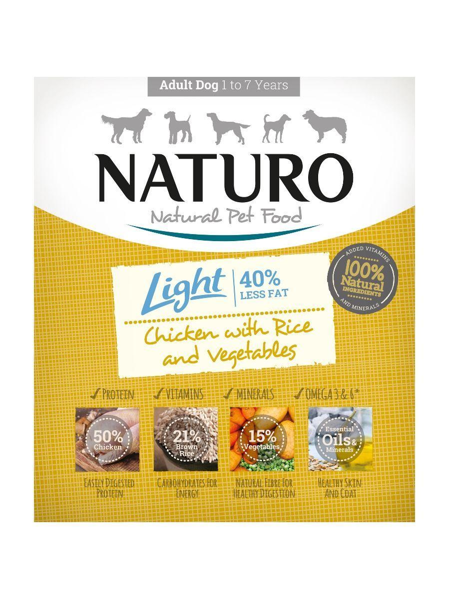 Naturo Light Chicken with Rice & Vegetables Wet Dog Food, 400-gram