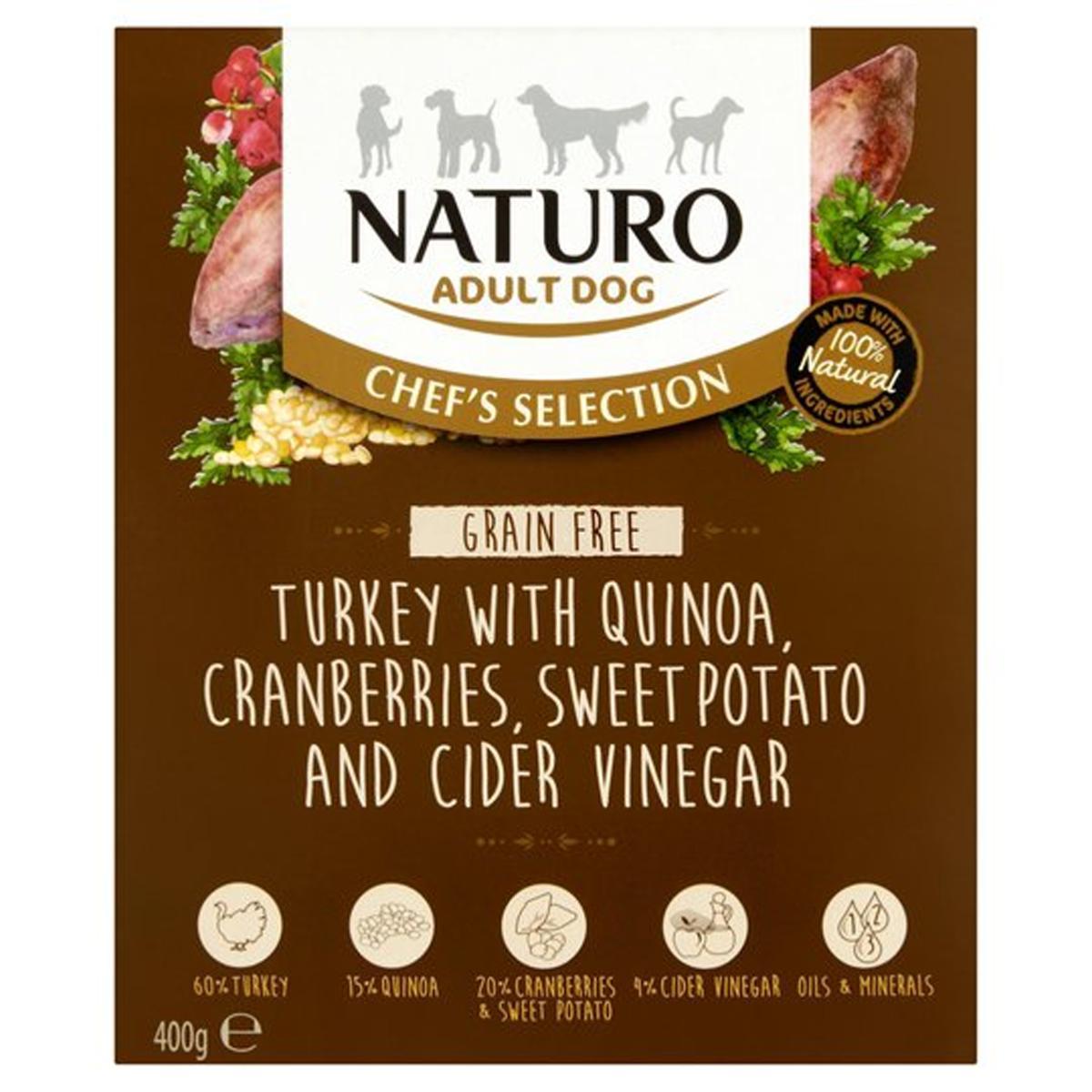 Naturo Chef's Selection Turkey Grain-Free Wet Dog Food, 400-gram