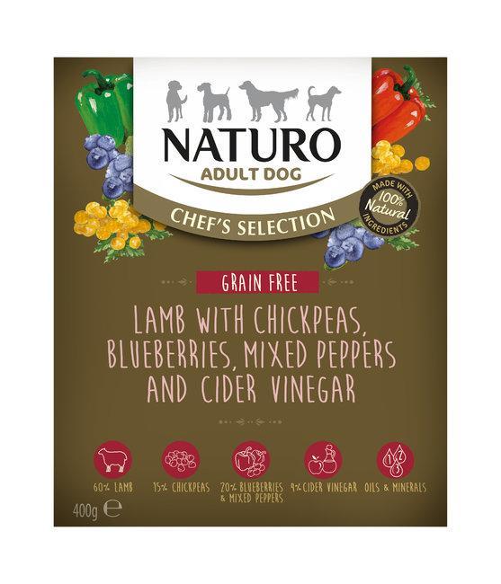 Naturo Chef's Selection Lamb Grain-Free Wet Dog Food, 400-gram