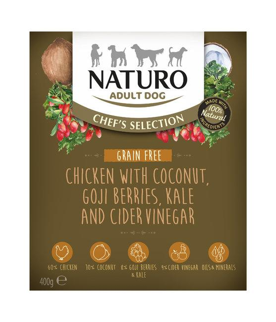 Naturo Chef's Selection Chicken Grain-Free Wet Dog Food, 400-gram