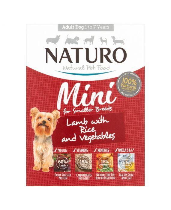 Naturo Mini Lamb with Rice & Vegetables Wet Dog Food, 150-gram