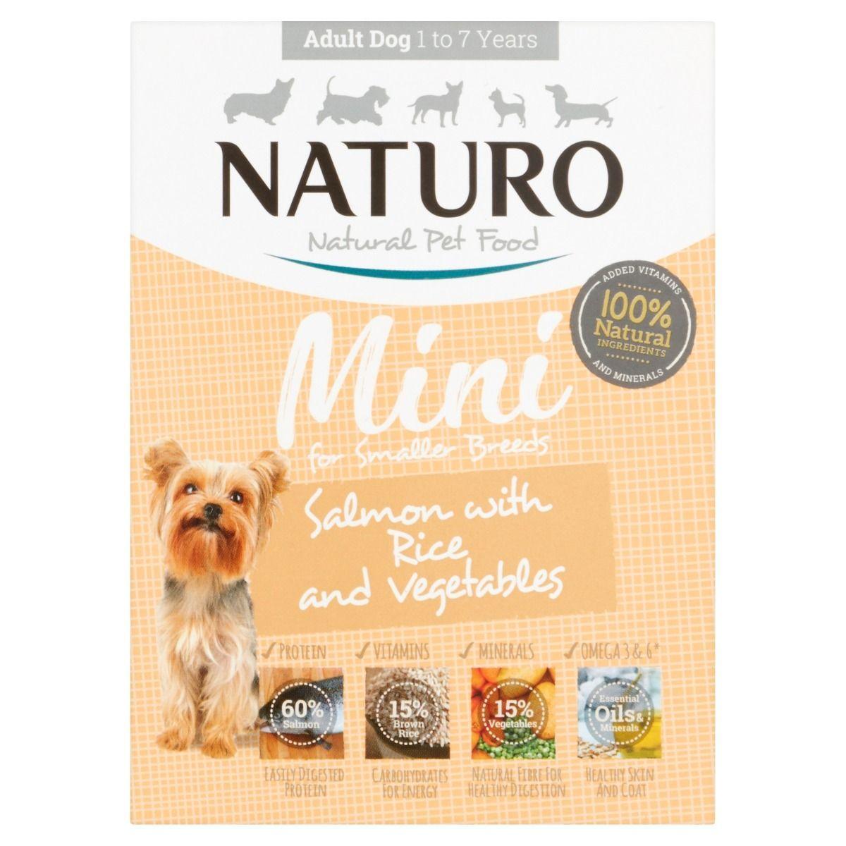 Naturo Mini Salmon with Rice & Vegetables Wet Dog Food, 150-gram
