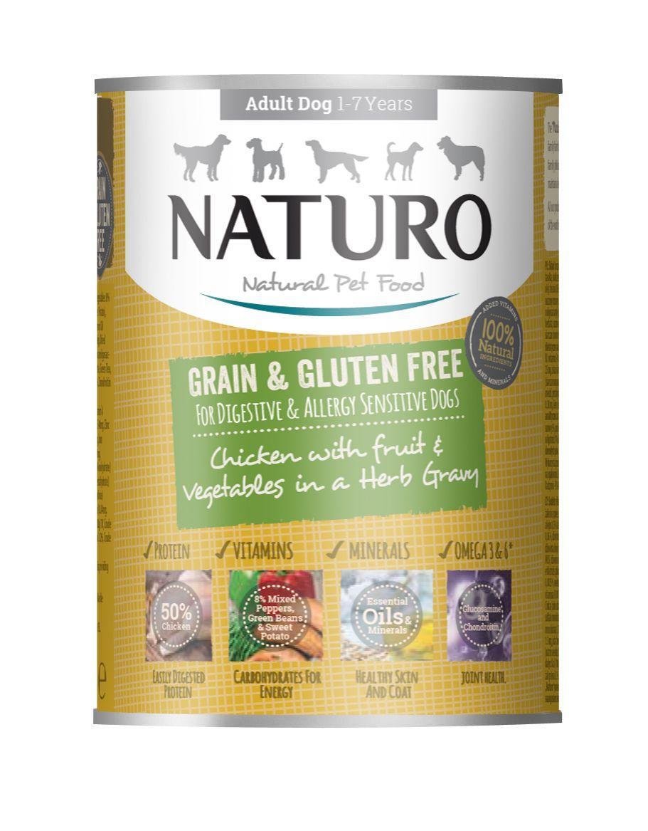 Naturo Chicken with Fruits & Vegetables in Herb Gravy Wet Dog Food, 390-gram