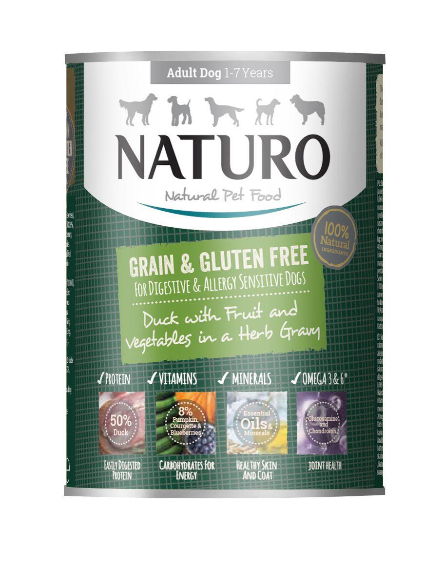 Naturo Duck with Fruits & Vegetables in Herb Gravy Wet Dog Food, 390-gram