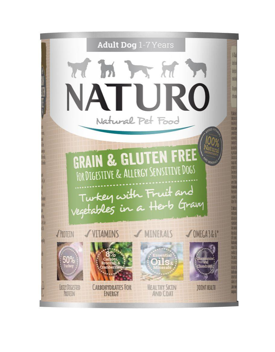 Naturo Turkey with Fruits & Vegetables in Herb Gravy Wet Dog Food, 390-gram