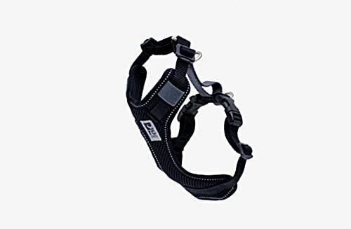 RC Pet Products Moto Control Dog Harness, Black/Grey, Small
