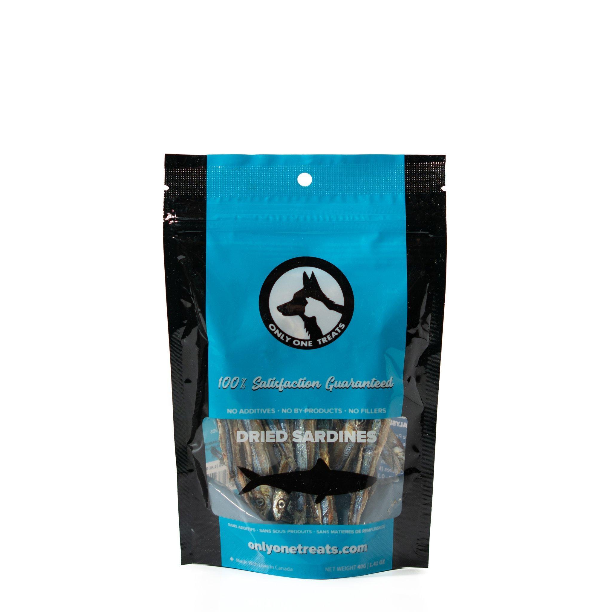 Only One Treats Dried Sardines Dog & Cat Treats, 40-gram