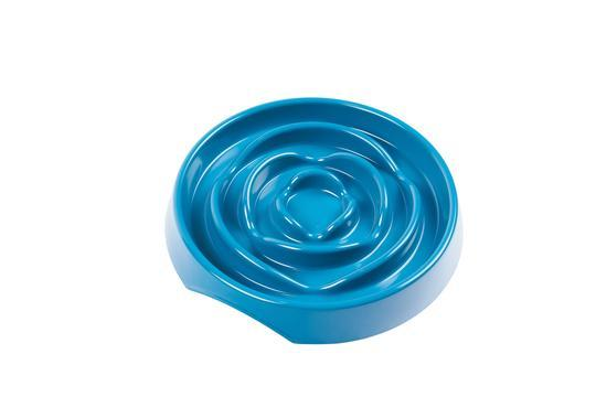 Messy Mutts Interactive Dog Slow Feeder, Blue, 1.75-cup