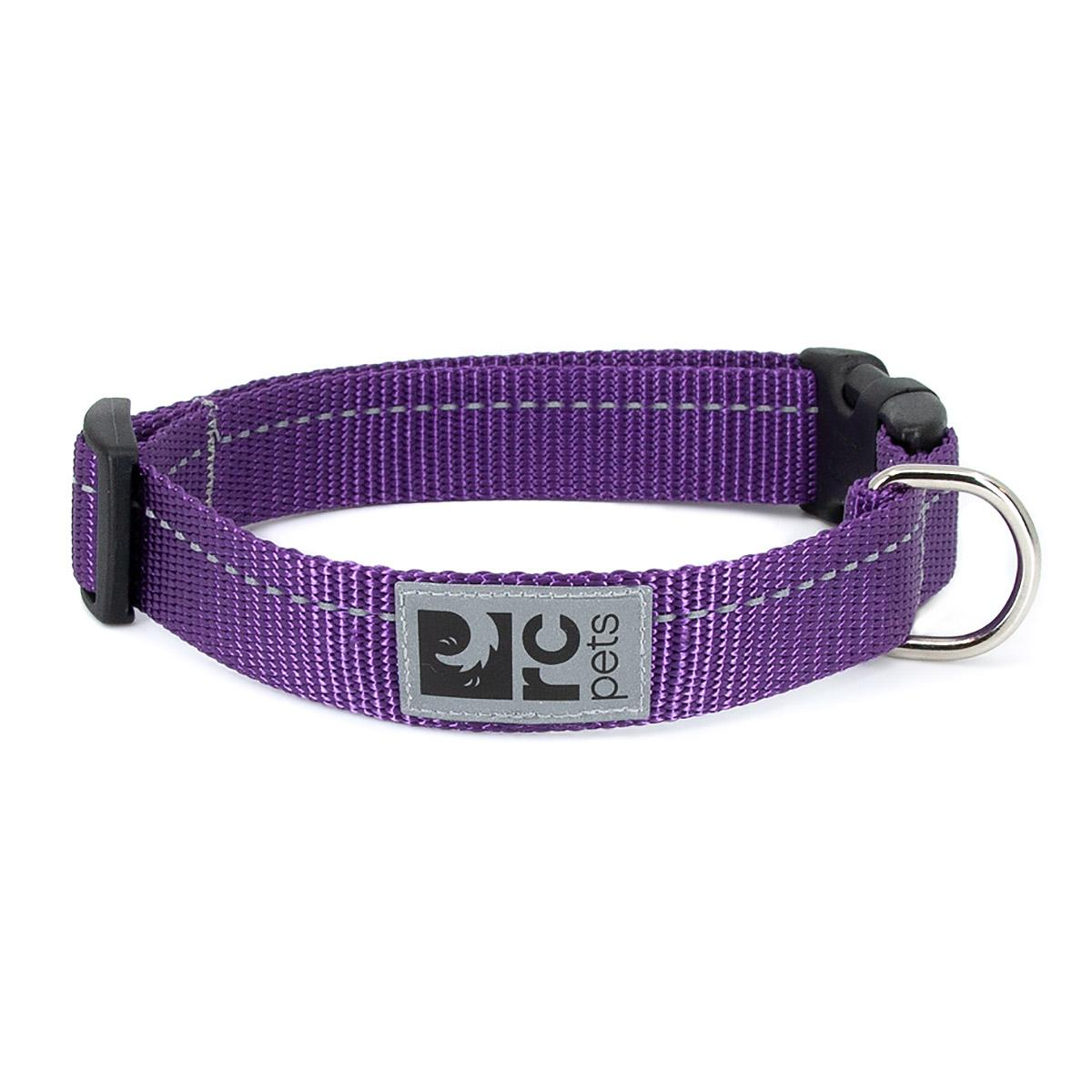 RC Pet Products Primary Clip Dog Collar, Purple, 3/4-in, Small
