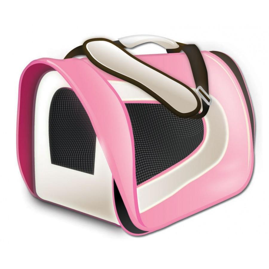 TUFF Soft Airline Pet Carrier, Pink, 17 x 10 x 9-in (Size: 17 x 10 x 9-in) Image
