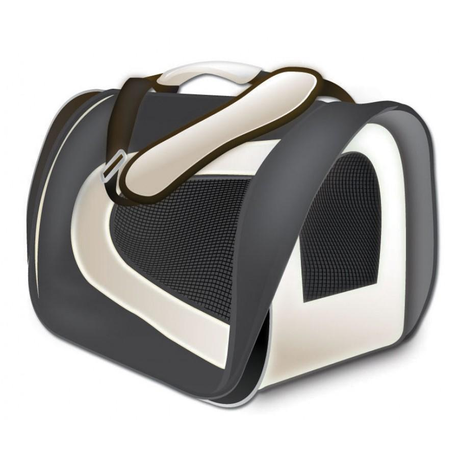 TUFF Soft Airline Pet Carrier, Black, 17 x 10 x 9-in