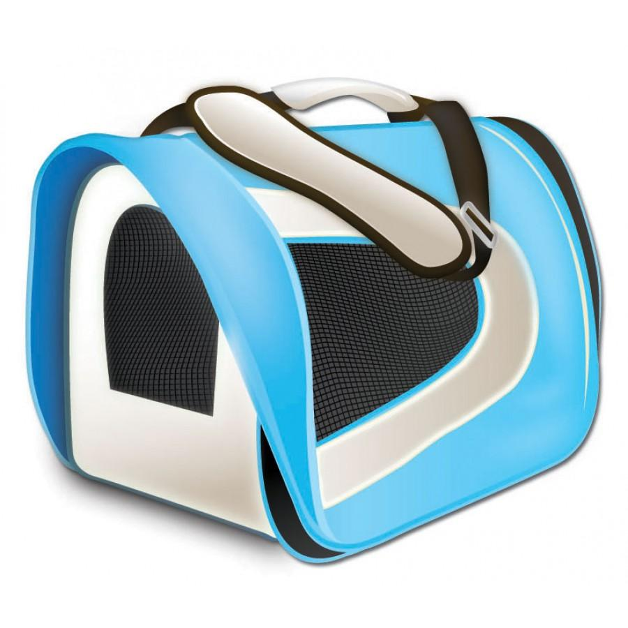 TUFF Soft Airline Pet Carrier, Sky Blue, 17 x 10 x 9-in (Size: 17 x 10 x 9-in) Image