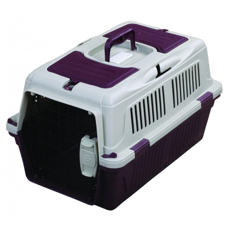 TUFF Deluxe Carrier with Seatbelt Holder for Pets, Burgundy, 20 x 13 x 12-in (Size: 20 x 13 x 12-in) Image
