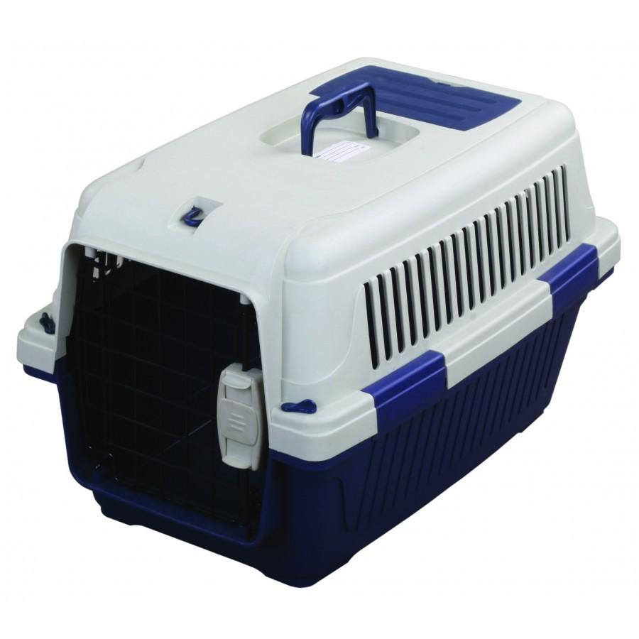 TUFF Deluxe Carrier with Seatbelt Holder for Pets, Blue, 22 x 15 x 14-in (Size: 22 x 15 x 14-in) Image