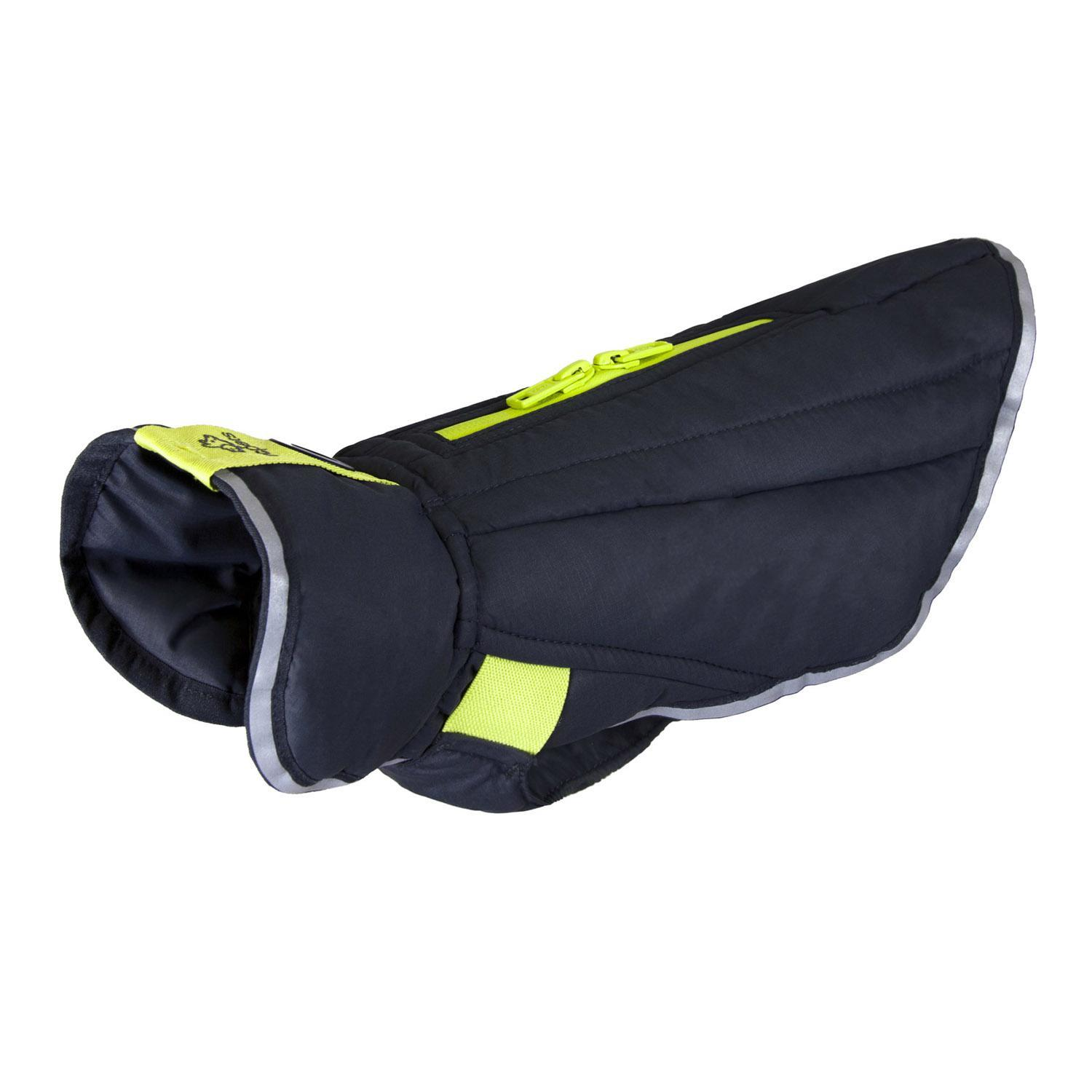 RC Pet Products Nimbus Puffer Dog Jacket, Graphite/Lime, 10-in