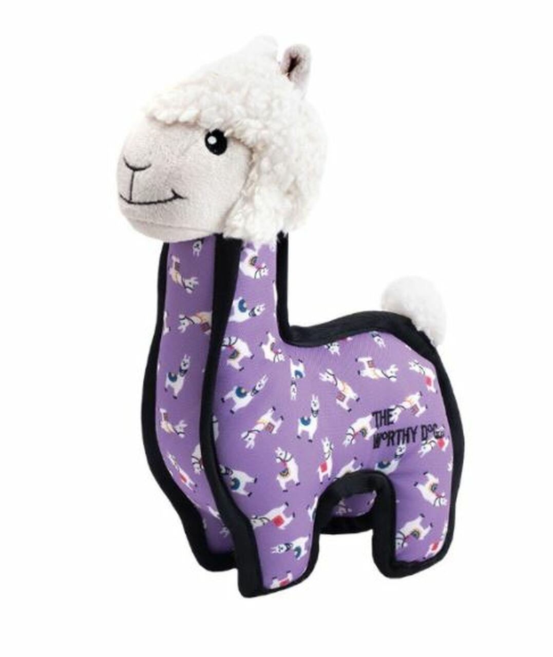 The Worthy Dog Llama Dog Toy, Small