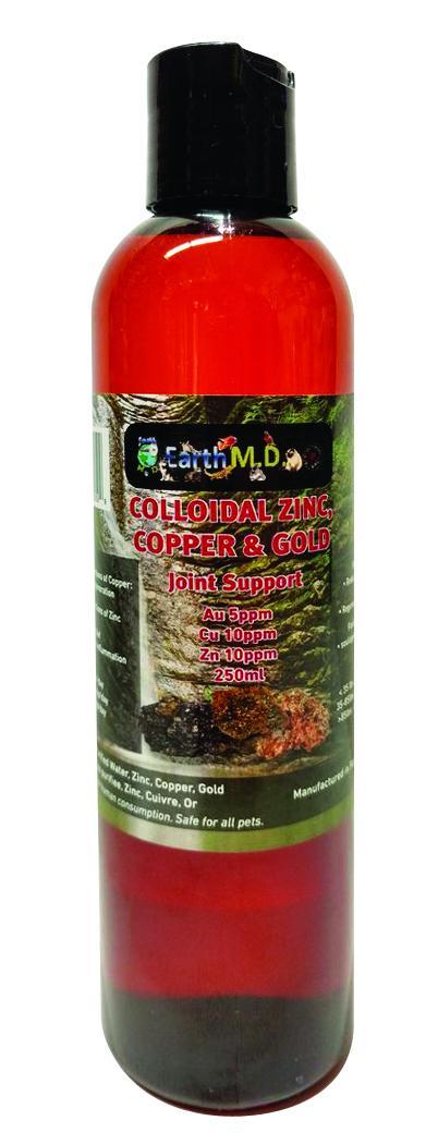 Earth M.D. Colloidal Copper, Zinc, & Gold for Pets, 250-mL