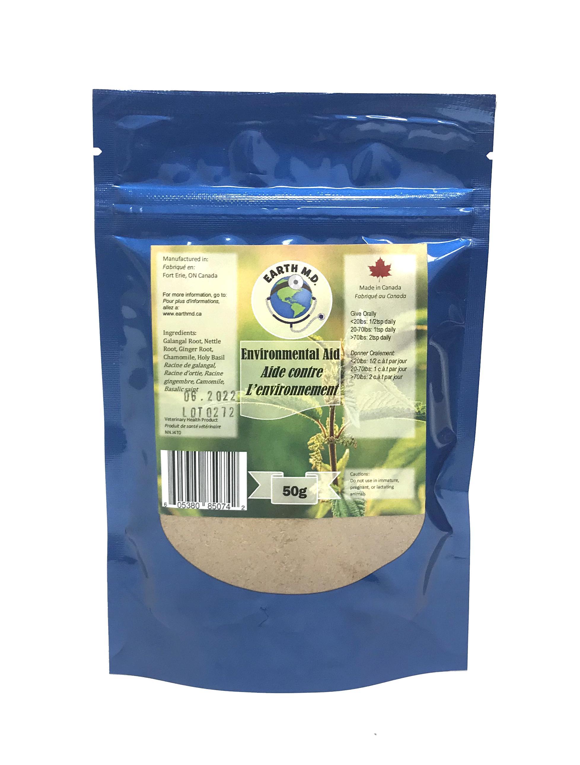 Earth M.D. Environmental Aid Pet Supplement, 50-gram