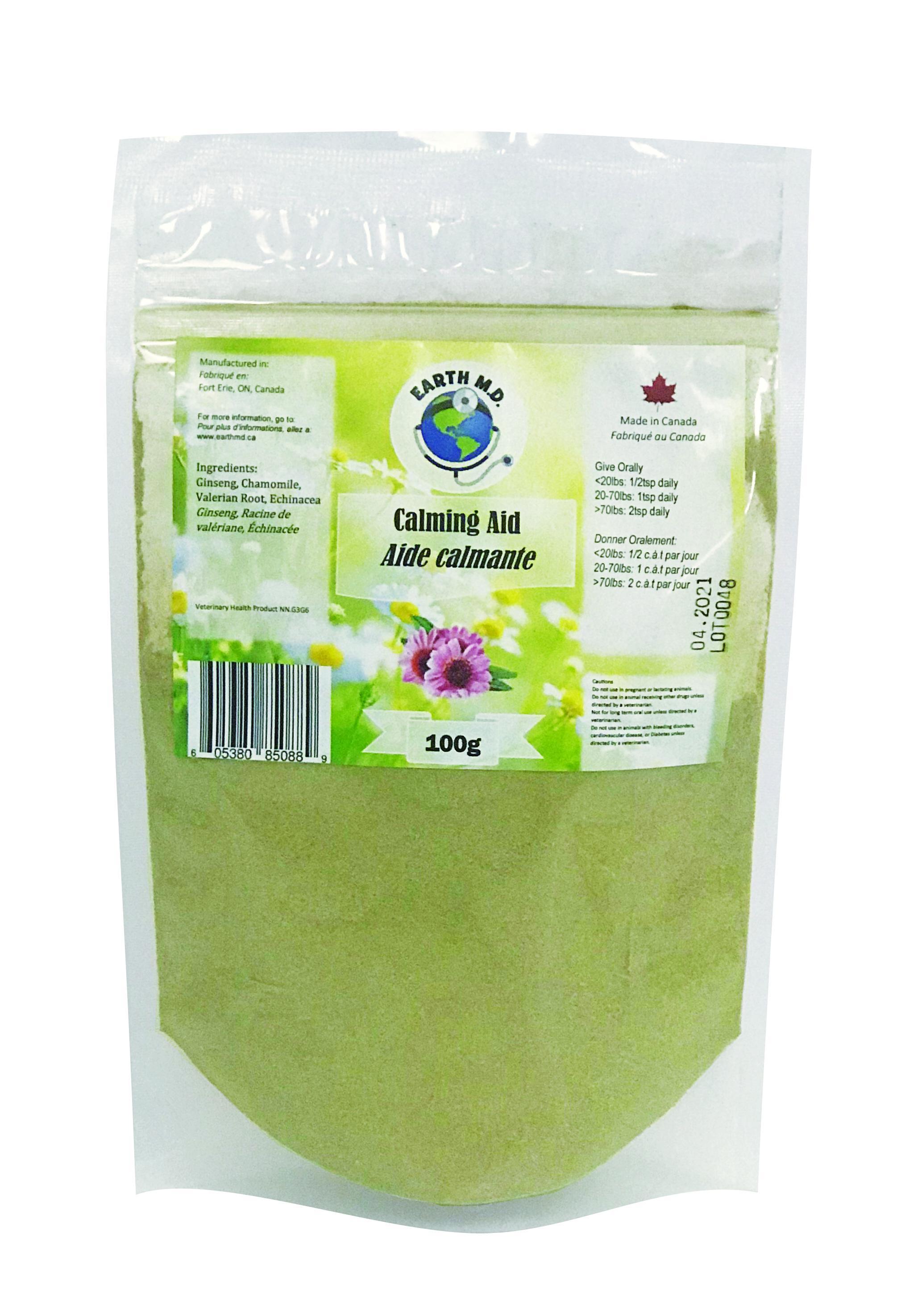 Earth M.D. Calming Aid Pet Supplement, 100-gram