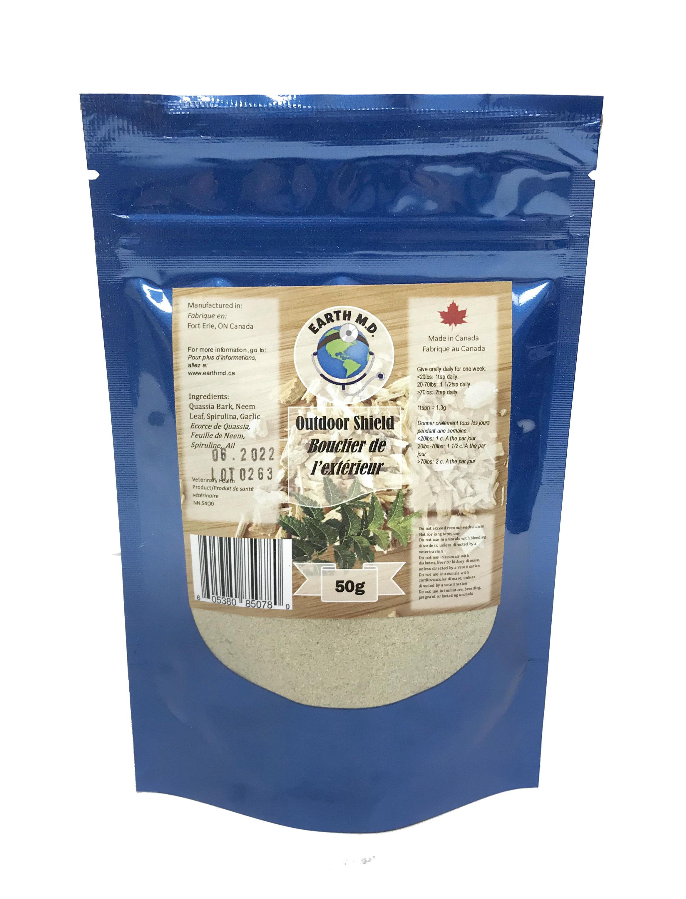 Earth M.D. Outdoor Shield Pet Supplement, 50-gram