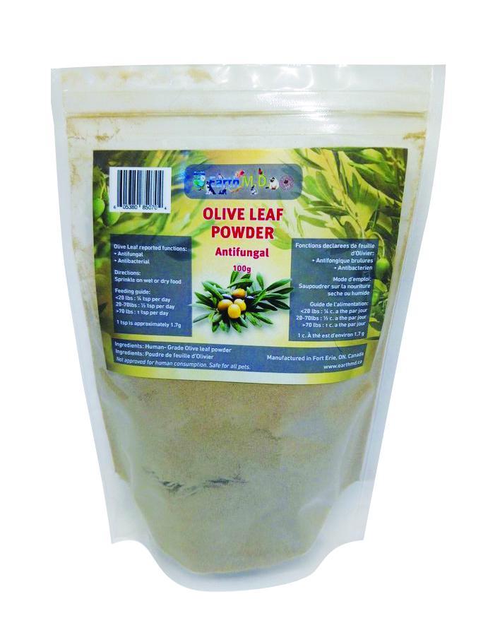 Earth M.D. Olive Leaf Powder Pet Supplement, 100-gram