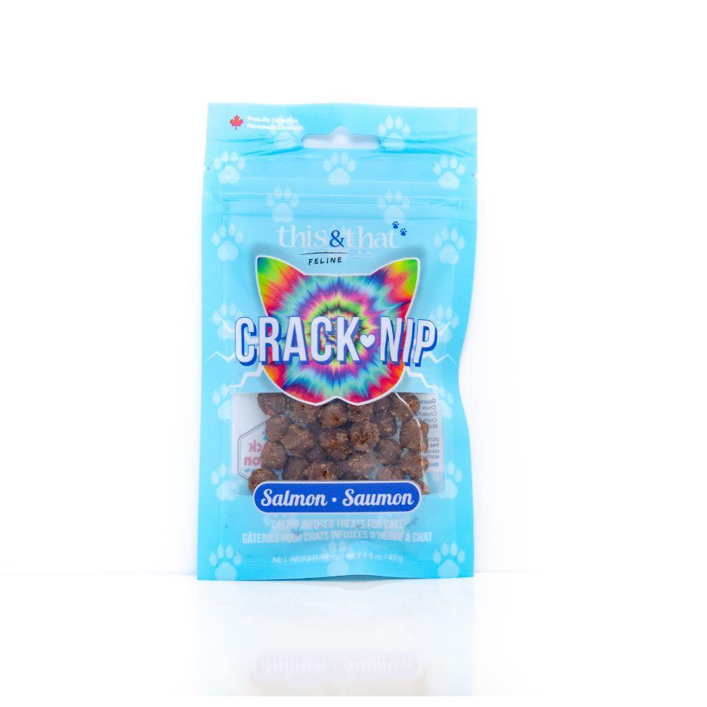 This & That Crack Nip Salmon Cat Treats, 43-gram