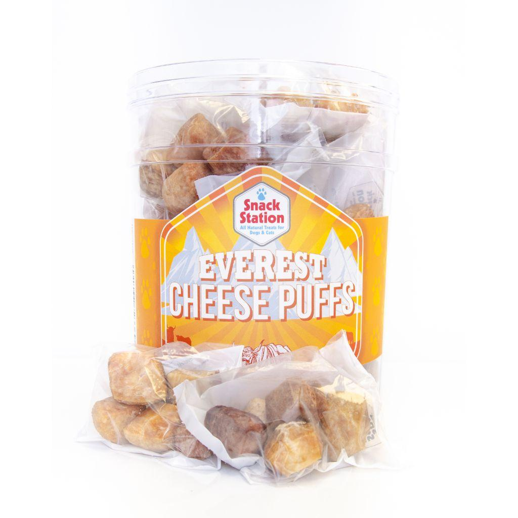 This & That Snack Station Everest Cheese Puffs Dog Treats, 5-pk