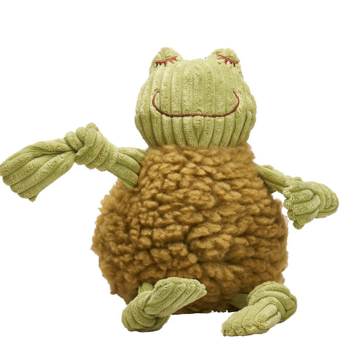 HuggleFleece FlufferKnottie Fiona the Frog Dog Toy Image