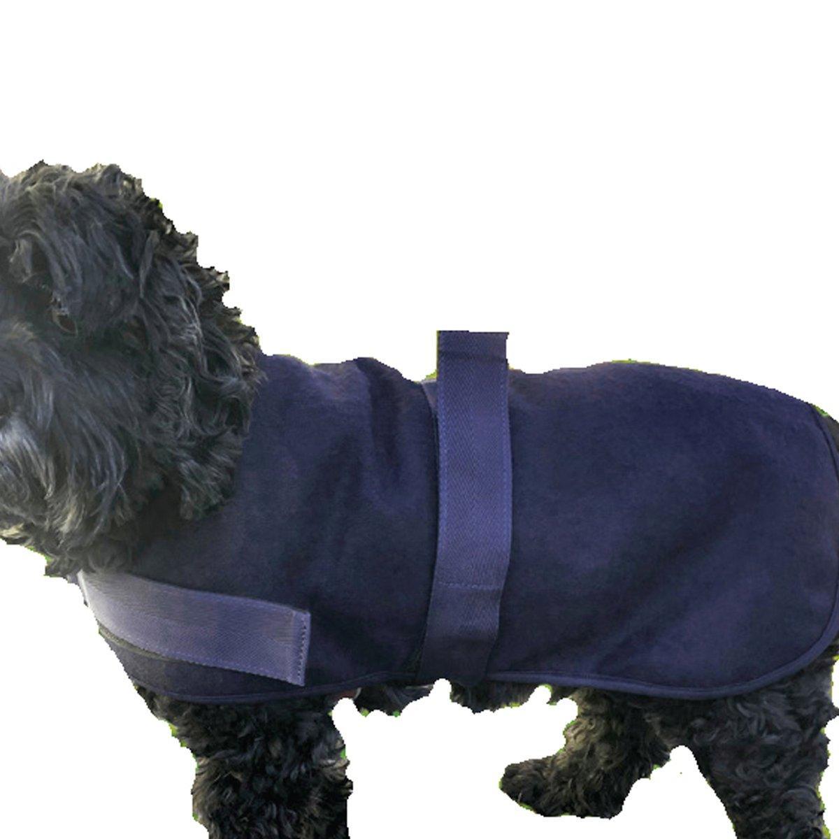 HuggleHounds HuggleWear Wool Dog Jacket, Navy Image