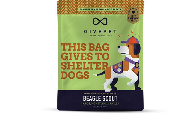GivePet Beagle Scout Grain-Free Dog Treats, 6-oz