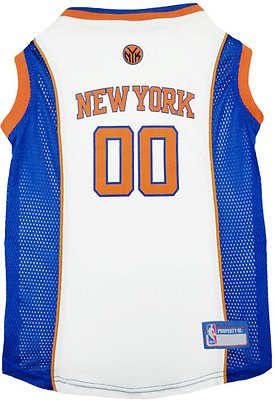 Pets First New York Knicks Mesh Dog & Cat Jersey, Large