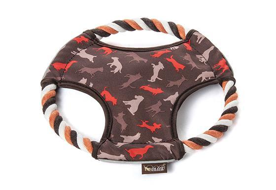 P.L.A.Y. Scout & About Flying Disc Dog Toy, Mocha