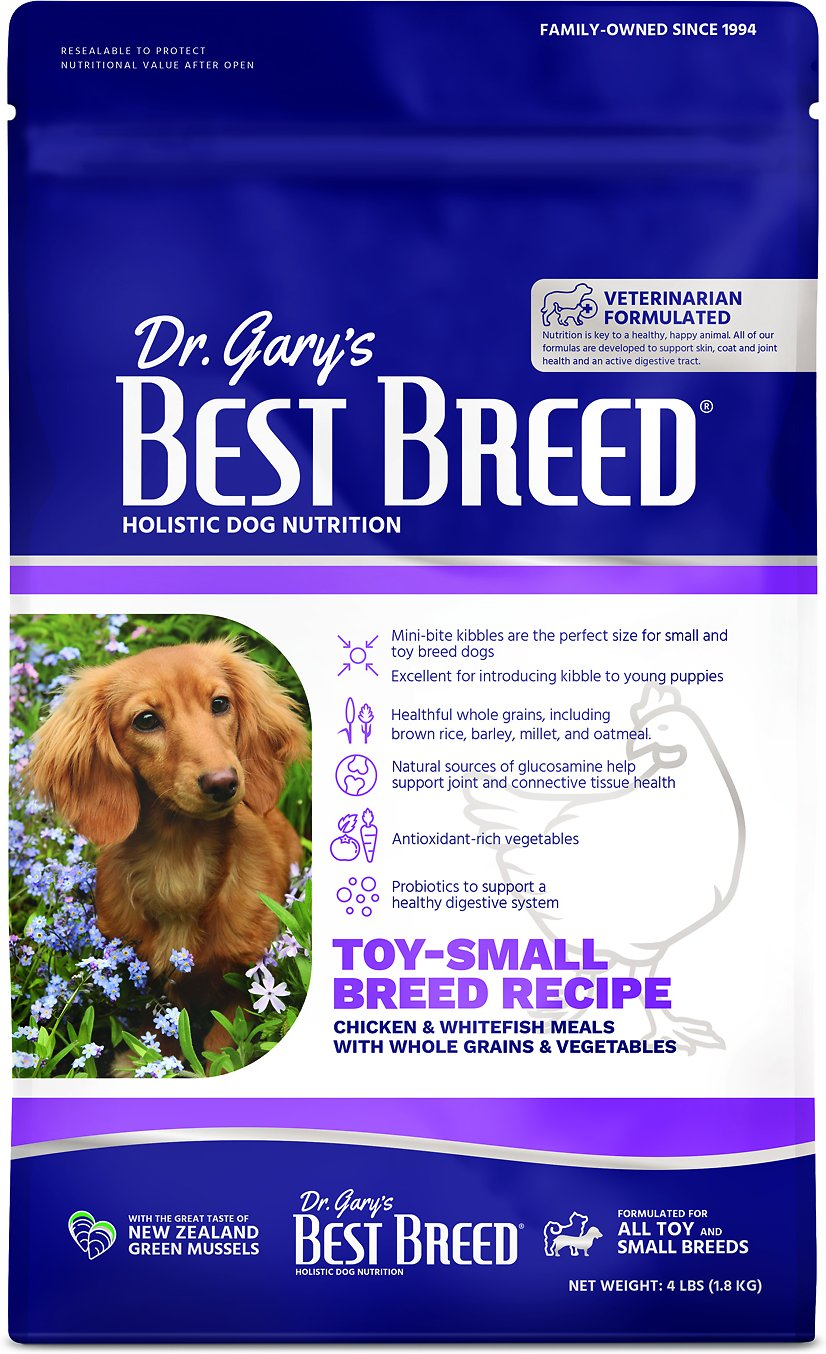 Dr. Gary's Best Breed Small Breed Dry Dog Food, 4-lb