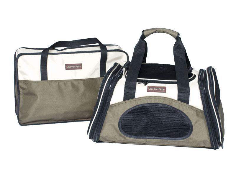 One For Pets The One Bag Expendable Pet Carrier, Olive, Small