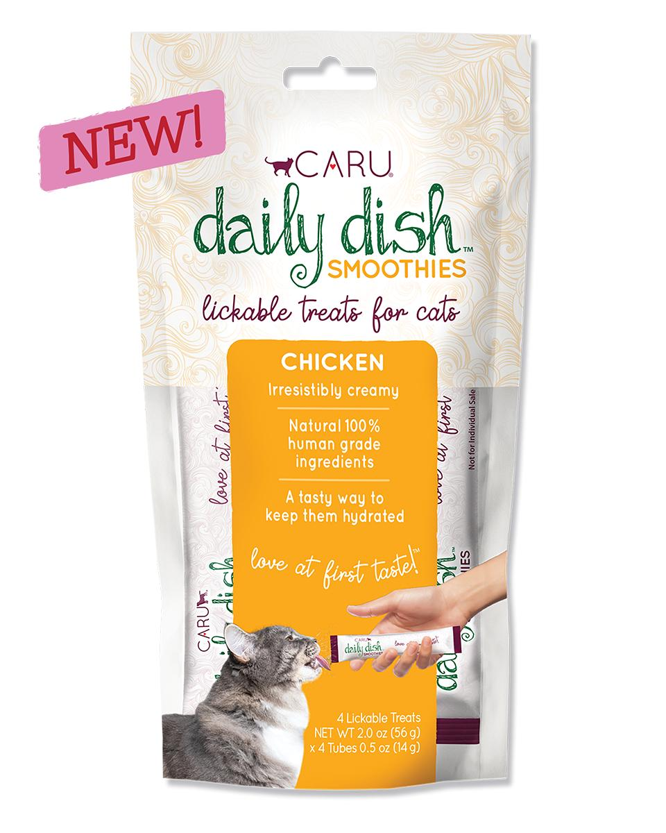 Caru Daily Dish Smoothies Chicken Lickable Cat Treats, 2-oz, 4-pk