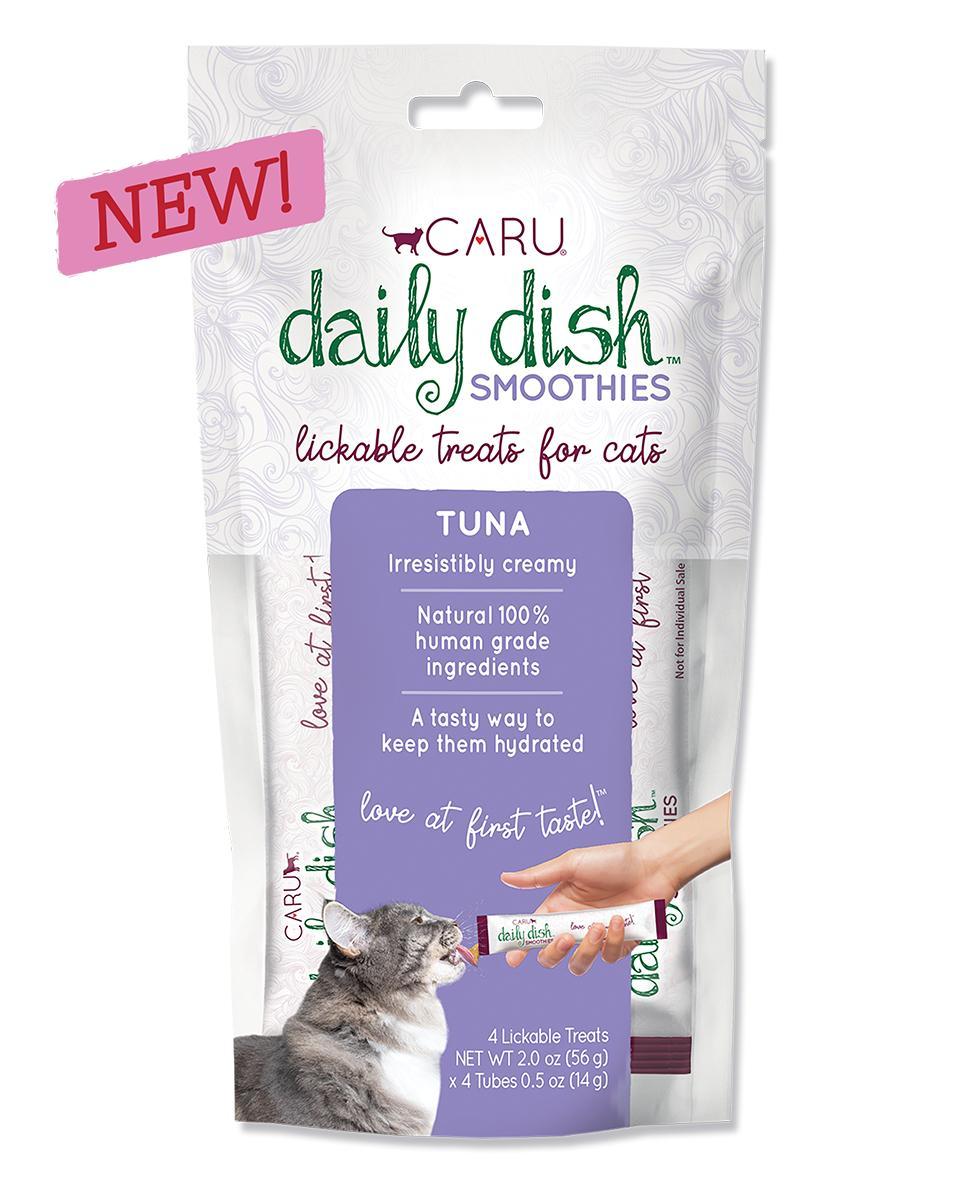 Caru Daily Dish Smoothies Tuna Lickable Cat Treats, 2-oz, 4-pk