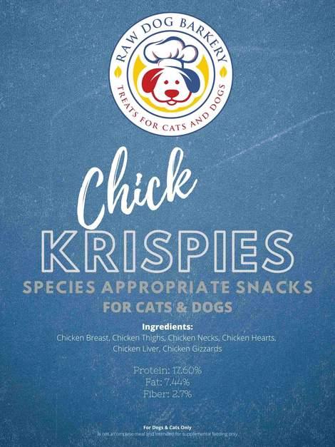Raw Dog Barkery Chick Krispies Dog Treats, 4-oz