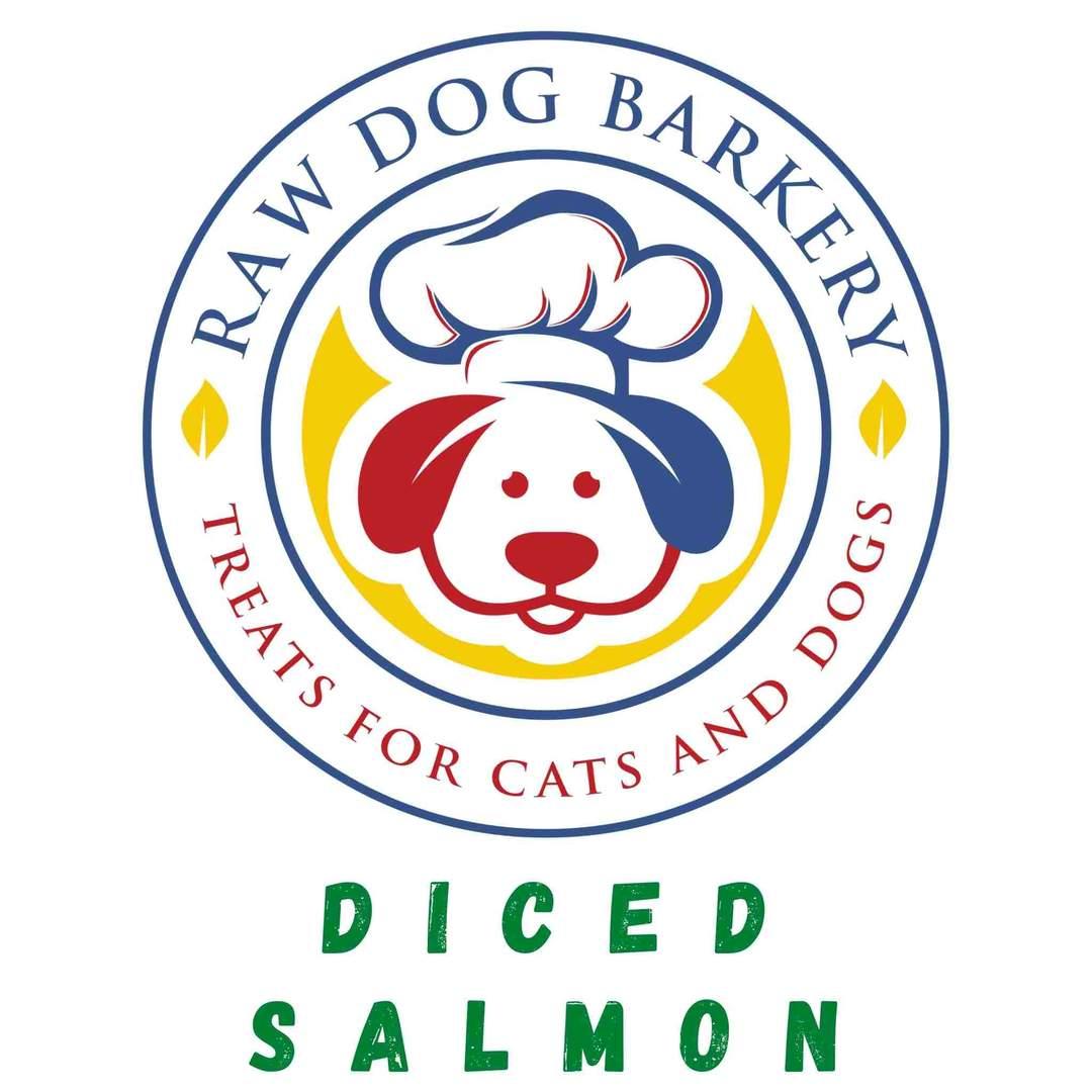 Raw Dog Barkery Diced Salmon Dog Treats, 2-oz