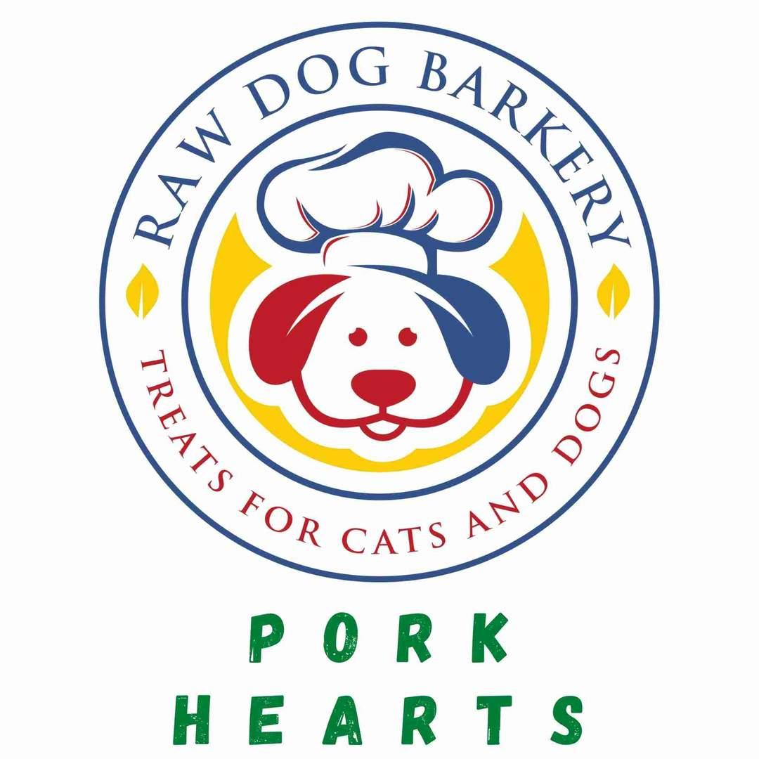 Raw Dog Barkery Pork Hearts Dog Treats, 3-oz