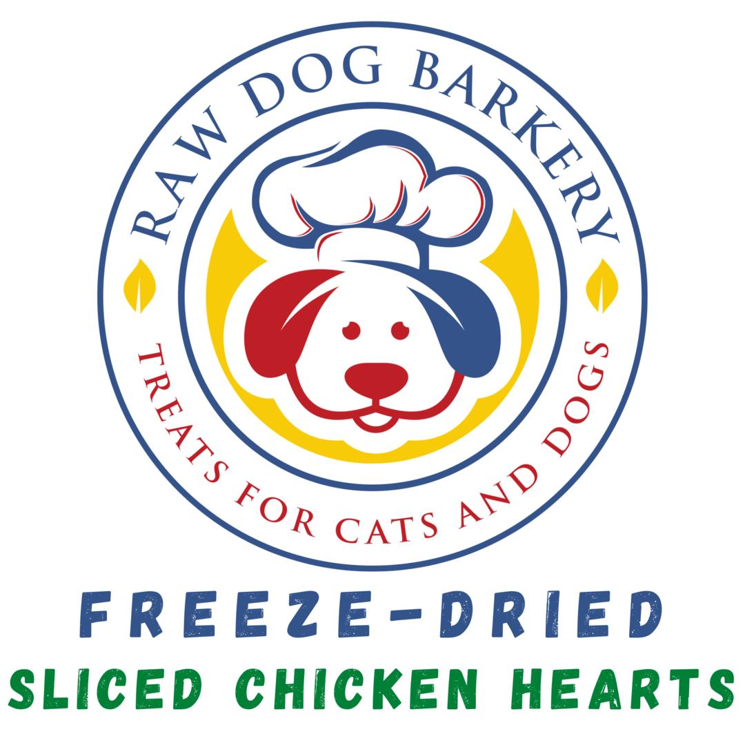 Raw Dog Barkery Sliced Chicken Hearts Dog Treats, 3-oz