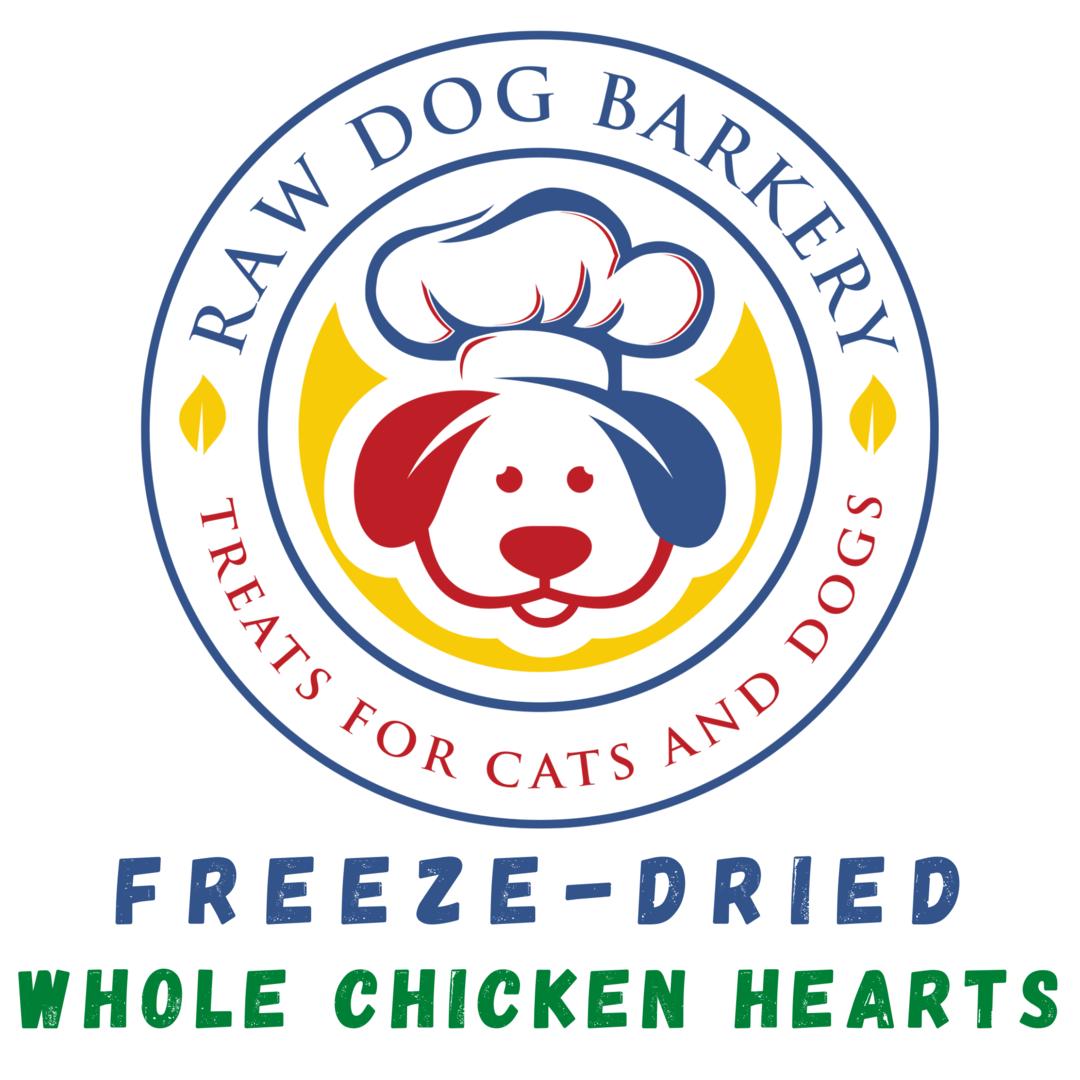 Raw Dog Barkery Whole Chicken Hearts, 3-oz