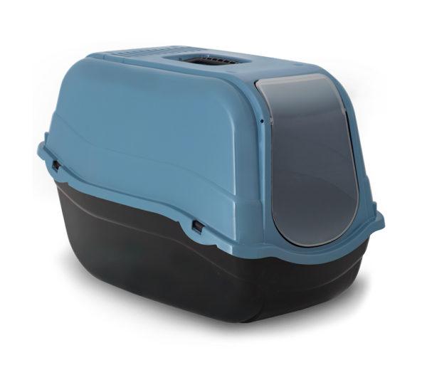 Bergamo Litter Pan Romeo Eco With Top And Filter, Laguna Blue Image